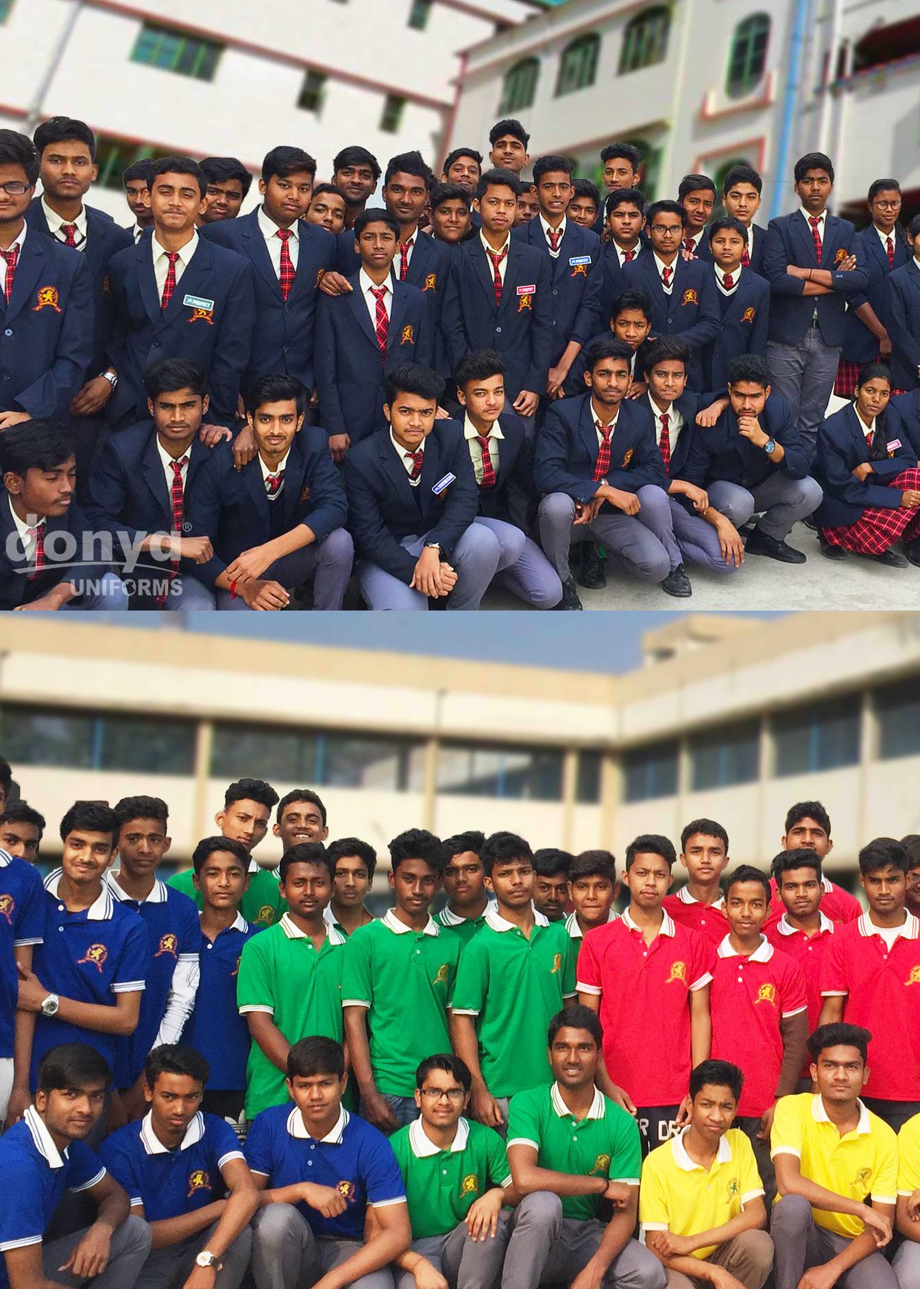 School Uniform House T Shirt in India, West Bengal, Kolkata, Delhi, Mumbai, Siliguri, Malda,